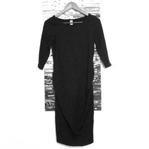 Comfy Cotton Black Maternity Dress